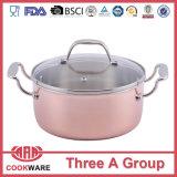 3ply銅の調理器具の鍋の銅の調理器具