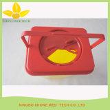 Contenitore medico giallo di plastica di Sharps