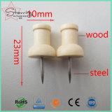 Pin principal de madera natural del empuje de la correspondencia de la chincheta de la alta calidad