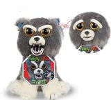 De Grappige Uitdrukking van het Speelgoed van de Pluche van de Eenhoorn van het Gezicht van de Verandering van de Huisdieren van Feisty