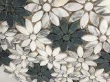 Girassol Mosaico de mármore natural Branco Verde