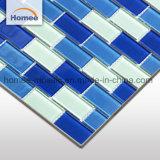 23X48 de glanzende Tegels van het Mozaïek van het Zwembad van de Overzeese Kleur van het Glas Antislip Blauwe