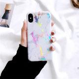 고전적인 대리석 Laser iPhone x를 위한 다채로운 TPU 전화 상자