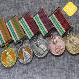 O esmalte de melhor qualidade feitas na fábrica executando o medalhão de premiação