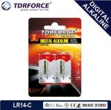 Pile alcaline libre de Digitals d'usine de Mercury&Cadmium Chine (taille de LR14/C)