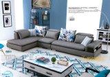 Sofá moderno do canto da tela de Mueble ajustado para a HOME (F953)