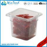 حارّ عمليّة بيع يحرّر شهادة [ببا] مطعم مطبخ شفّافة بلاستيك 1/6 حجم عرق شواء صينيّة
