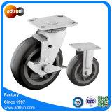 conjunto de rueda gris del echador de la PU de 150m m para el carro resistente