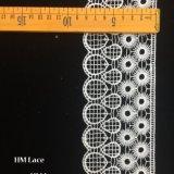 garniture blanche de couture Hmhb1100 de bille de mariage de garniture Venise d'Applique floral de lacet de 8.5cm de neige nuptiale d'Applique