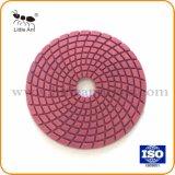 4 pouces de tampon de polissage de diamant souple Tampon à polir humide professionnel outil abrasif de pierres