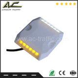 Температура Anti-High барьер 12 светодиодов световой оповещатель пластиковые шпильки дорожного движения солнечной энергии