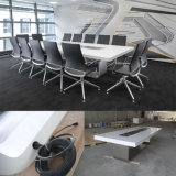 Mobília moderna branca do quarto de reunião da conferência do escritório das cadeiras de tabela de Tw-Oftb-0074 Corian