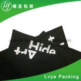 Impreso digital personalizado de reciclaje orgánico negro pequeño lienzo de algodón Bolsa Drawstring