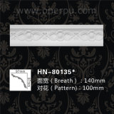 Coroa Home do Cornice do plutônio do molde do plutônio da decoração do poliuretano que molda Hn-80135