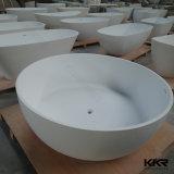 Bagno indipendente degli articoli sanitari di pietra compositi bianchi