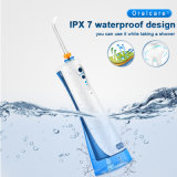 Ipx 7 portable imperméable ORAL IRRIGATOR avec de la soie dentaire pour le nettoyage des dents