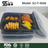 I contenitori della preparazione del pasto 3 contenitori di memoria dell'alimento delle caselle di pranzo dello scompartimento con i coperchi, BPA liberano la casella di plastica di Bento
