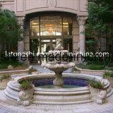 3 Fontein van het Water van het Beeldhouwwerk van de Steen van banden de Marmeren met Pool