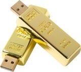 La barra de oro de lujo en una unidad flash USB 8GB 16GB 32 GB para regalo