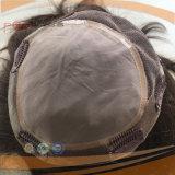 Parte superiore di seta dei capelli umani del merletto pieno