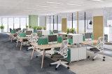Estação de mobiliário de escritório personalizados com tela de partição
