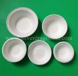 Biodegradierbare kompostierbare Zuckerrohr-Massen-Papierplatte/Teller, 5 Zoll-Platte
