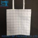 8 Oz sac fourre-tout Coton noir avec du blanc d'impression personnalisée
