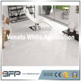 10мм толщина китайский белый мрамор плитка используется для распределения в цокольном этаже, установка на стену, наград