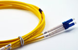 LC APC Simplex/Duplex Singlemode Optische Kabel 3.0mm van het Koord van het Flard