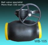 Rendimento elevato completamente che salda la valvola a sfera manovrata mediante ingranaggi