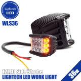 Lightech Offroad 36W 4 pulgadas de lado el trabajo de color ámbar de la luz estroboscópica LED Rojo Azul Blanco las vainas de parpadeo del LED de 12V Coches Jeep camiones