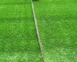 Grama artificial para o campo e a paisagem de futebol