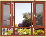 Red Wooden Color Aluminum Breaking Knell Window (ACW-012)