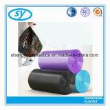 Sac d'ordures noir de joint d'étoile de la couleur HDPE/LDPE