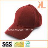 Polyester & plaine chaudes de la qualité de laine rouge/Casquette de baseball de Bourgogne