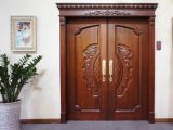 Villarの外部の木のドアか二重葉の自然な木のドア(RA-N050)