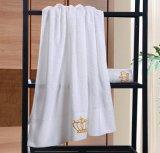 Handdoek van het Hotel van de Kleur van de Handdoeken van het Borduurwerk van de katoenen Bevordering van het Bad de Witte