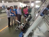 O alumínio manual barato & do perfil do PVC única estaca principal viram a máquina