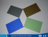 O vidro Tempered colorido/chanfrou o vidro de vidro laminado/indicador/edifício de vidro