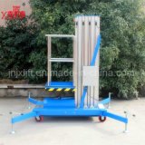 6-14m Face lift Height 100kg High Quality Hydraulic Small Aluminum Alloy Mobile Manlift with This ISO Certification