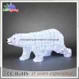 Im Freien bären-Motiv-Licht der LED-Weihnachtsfeiertags-Dekoration-3D Acryl