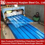 Galvanizado recubierto de color de la placa de acero corrugado para tejados