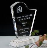 De duidelijke Toekenning van de Trofee van de Plaque van het Schild van het Kristal van het Glas Douane Gegraveerde