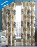 La decoración del hogar patrón floral de poliéster cortina de ventana Imprimir