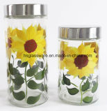 Sunflower Hand Drawing Knell Cniaster Set, Knell Gravel bank
