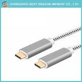 USB de plata C a un USB 2.0 tipo de carga C cable de datos