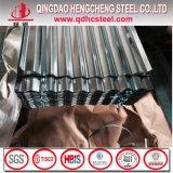 Type ondulé en acier galvanisé à chaud de feuilles de toiture