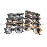 Occhiali da sole di legno personalizzati dell'acetato del reticolo di protezione UV alla moda