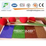vidro de indicador de vidro tecido bronze da mobília do vidro modelado de 4.6mm