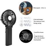 Portée de Main d'été portable fonctionne sur batterie rechargeable de ventilateur de refroidissement du mini-USB